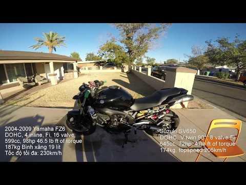 MVlog 37: Đánh giá chiếc naked bike Yamaha FZ6 đời 2009