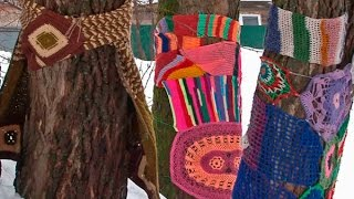 170307 Ярнбомбинг (yarn bombing)