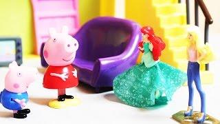 Bajka Świnka Peppa po polsku i Syrenka Areil Świnka Peppa pomaga syrence Ariel