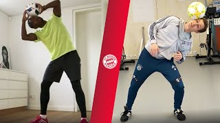 FC Bayern X Freestyler | Alaba, Müller, Martínez & Co. show their skills in Cyber Training