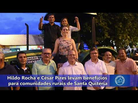 Hildo Rocha e César Pires levam benefícios para comunidades rurais de Santa Quitéria