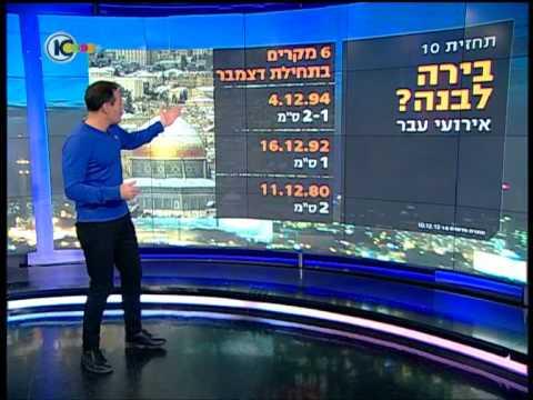 תחזית חדשות 10 10.12.2013 יום לפני תחילת הסערה