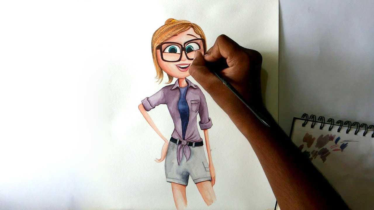 how to draw cloudy with a chance of meatballs 2 sam sparks youtube
