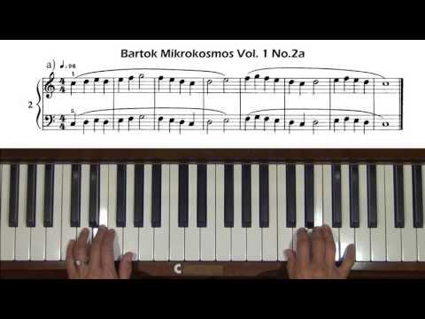Bartok Mikrokosmos Vol. 1, No. 1 to No. 4,  Piano Tutorial