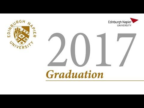 Edinburgh Napier University Graduation Wednesday 28 June 2017