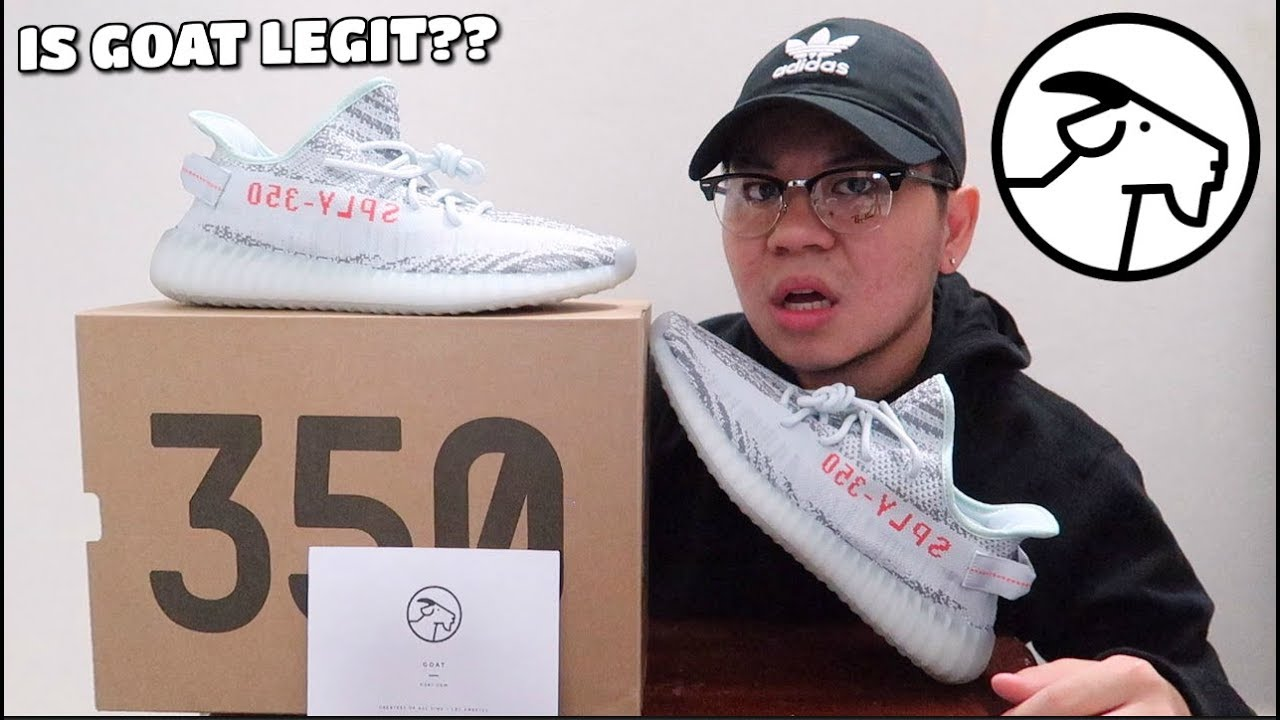 """0907cf513bc84 YEEZY BOOST 350 V2 """"Blue Tint"""" UNBOXING FROM GOAT APP!! (IS GOAT LEGIT  )"""