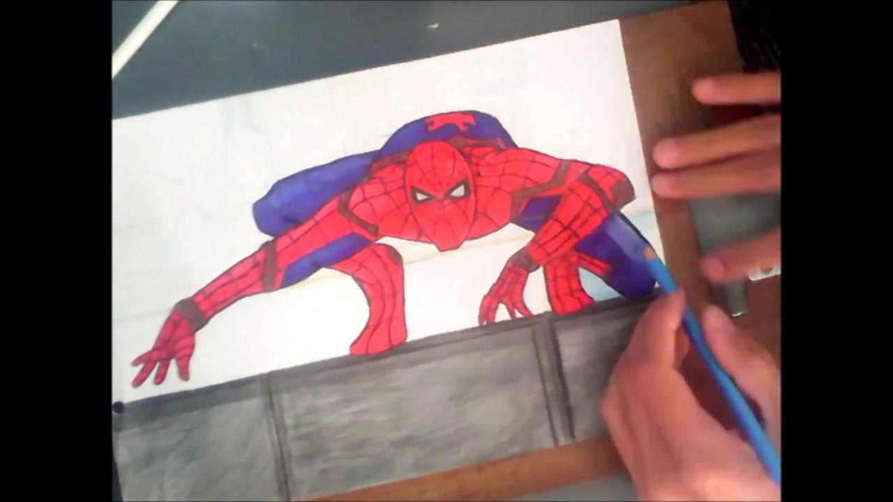 Desenho: Homem Aranha De Volta Ao Lar/ Drawing: Spider-Man