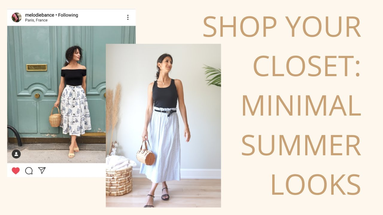 How to Recreate Looks from Instagram and Pinterest WITHOUT SHOPPING | Shop Your Closet