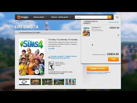 Cómo comprar e instalar los SIMS 4 en Origin Mac/Windows YouTube