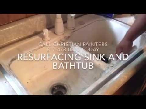 resurfacing porcelain bathtub and kitchen sink