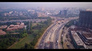 India from above - Driving and roads of New Delhi