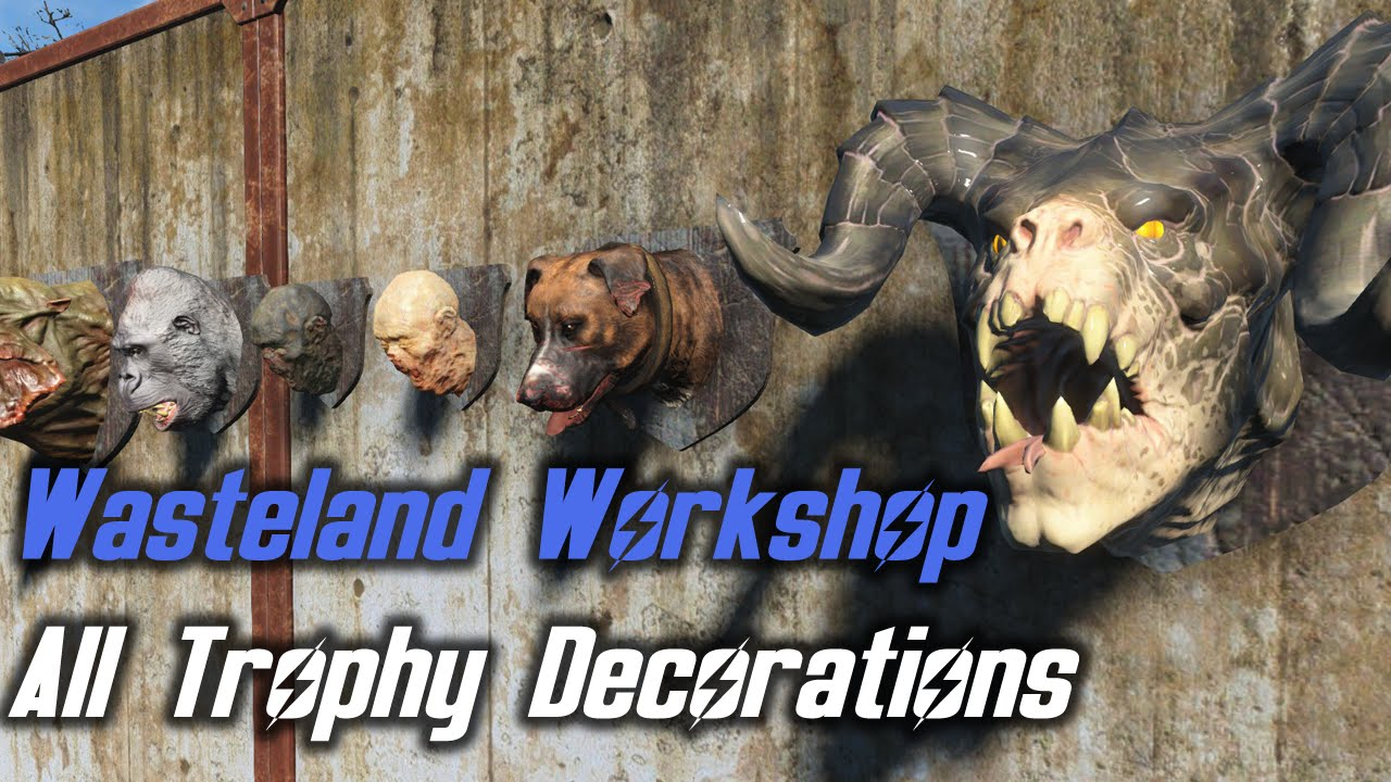 Fallout 4 wasteland workshop all trophy decorations for Fallout 4 decorations