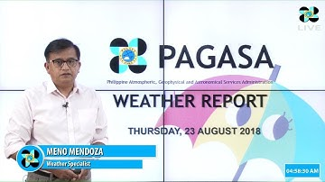 Public Weather Forecast Issued at 4:00 AM August 23, 2018