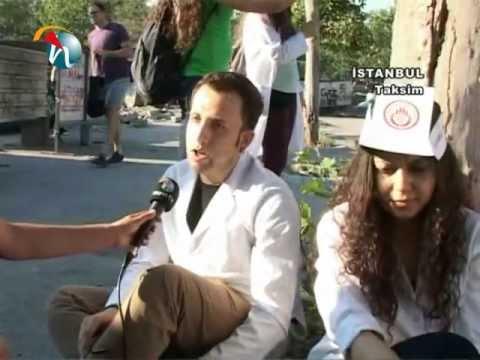 Taksim Gezi Parkı'ndaki direniş alanından röportajlar - Hayat Televizyonu
