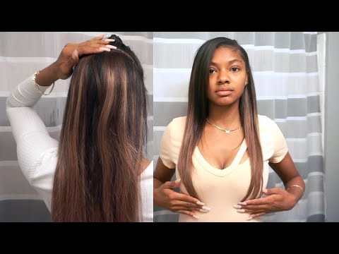 BAYALAGE HAIR VLOG: USING TAPE INS EXTENSIONS TO GO FROM SHORT TO LONG WITHOUT BLEACHING!! from YouTube · Duration:  10 minutes 3 seconds