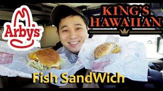 Arby's King's Hawaiian Fish DELUXE / Crispy Fish Sandwich Fast Food Review #fishsandwich #fastfood