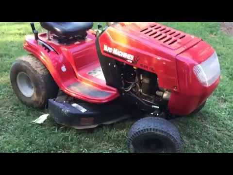 Yard machines 638rl mowing