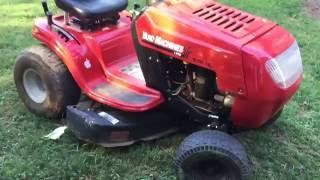 Yard machines 638rl mowing