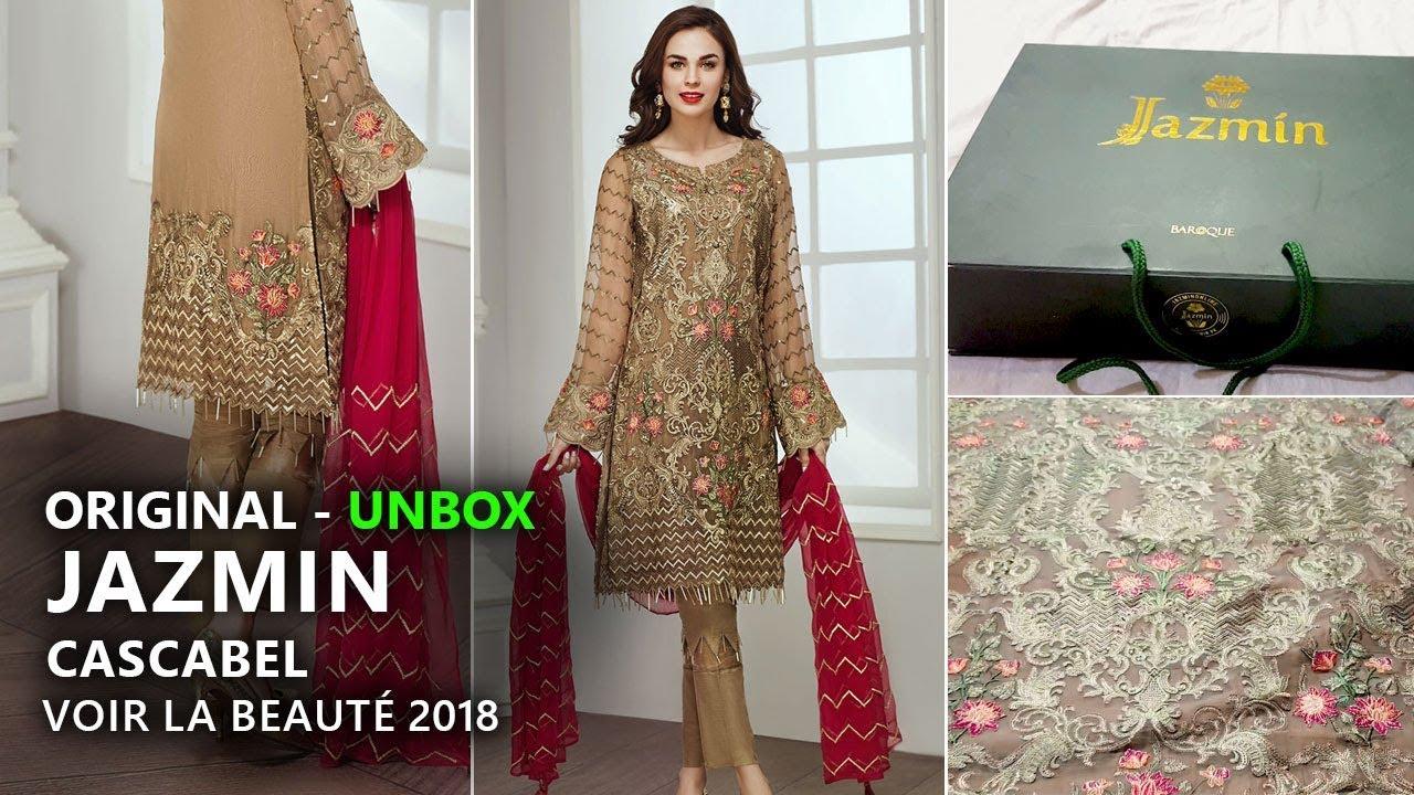 e8c5c8852e Jazmin Chiffon Collection 2018 - Unbox Cascabel Pakistani Branded Clothes