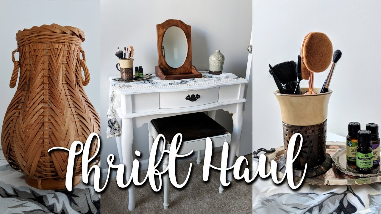Home Decor Thrift Haul+How I Style Vintage Thrifted Finds
