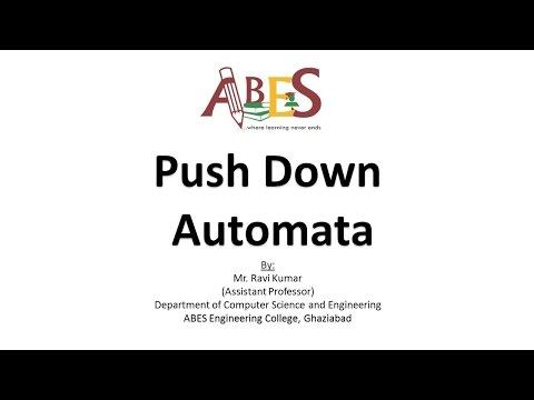 Push Down Automata  by Mr. Ravi Kumar [Theory of Automata & Formal Languages]
