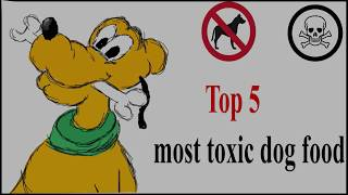 Top 5 most toxic dog foods