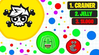 CRAINER VS SLOGO & JELLY In Agar.Io!