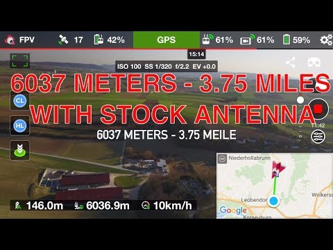 #6 DJI MAVIC PRO - LONG RANGE FLIGHT 6037 METERS / 3,75 MILES LONG VERSION