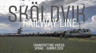Sköldvik Railway line trainspotting.