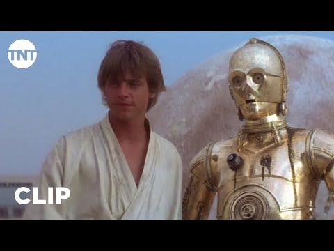Star Wars: A New Hope - Luke Skywalker Meets R2-D2 and C-3PO [CLIP] | TNT