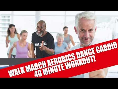 Walk March Old School Hi Lo Aerobics Cardio Dance Toward 10,000 Steps Fat Burner! Let's Get Moving!