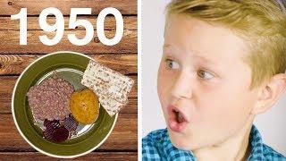 Barn testar svensk skolmat från 1900-talet