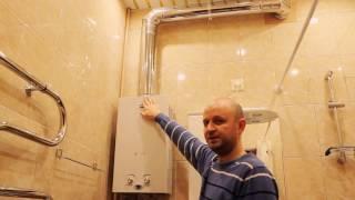 видео Установка газового водонагревателя своими руками