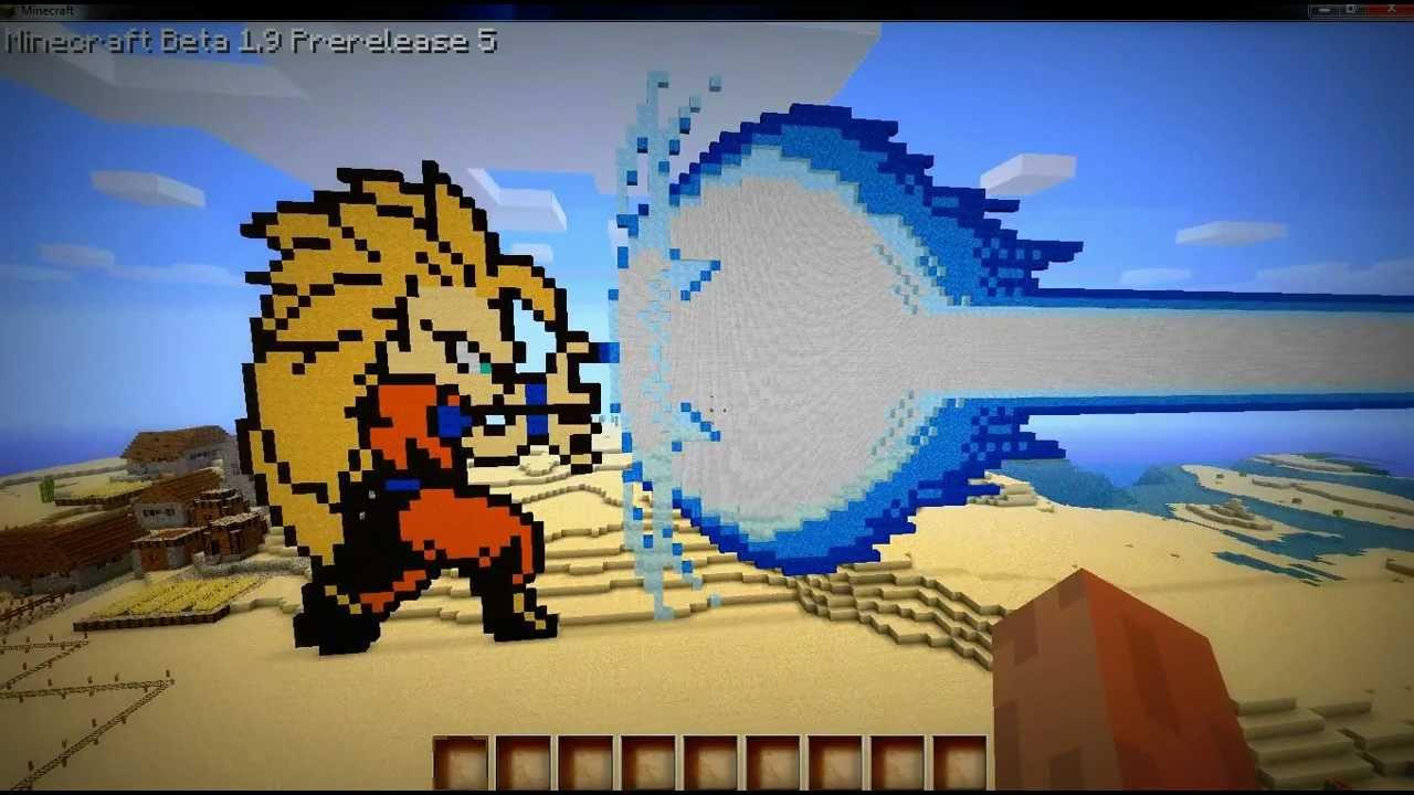 minecraft dragonball son goku ssj hd youtube