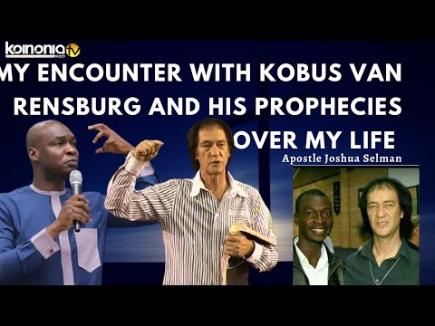 Download (😱😱MUST WATCH) MY ENCOUNTER WITH KOBUS VAN RENSBURG AND HIS PROPHECY OVER ME - Apostle Joshua Selman