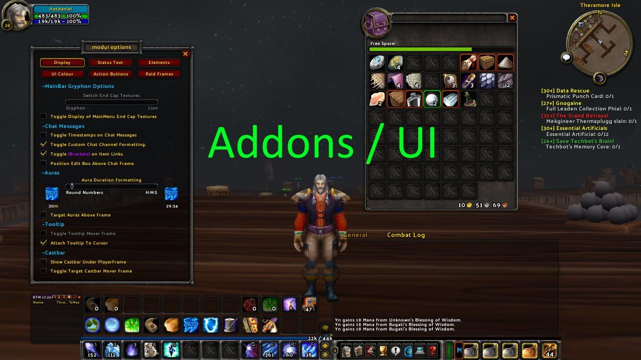 Vanilla WoW: Addons and UI
