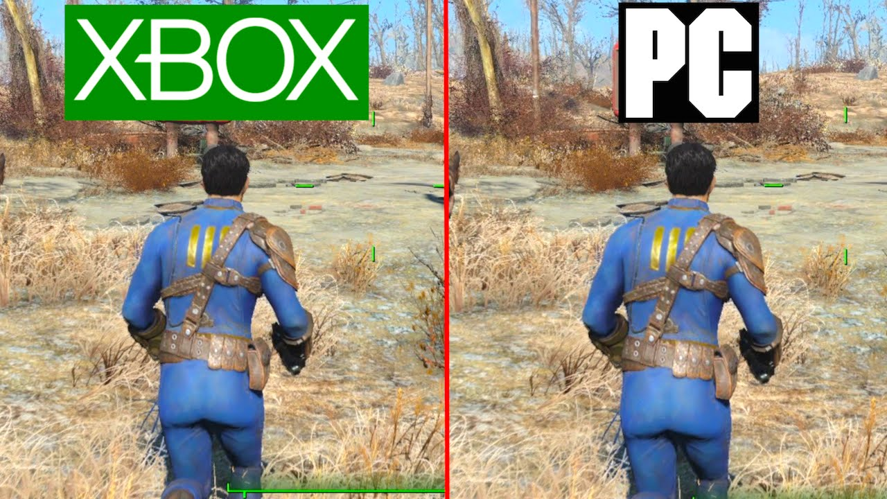 fallout 4 pc vs xbox one graphics test pc ultra vs
