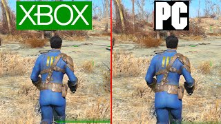 Fallout 4 PC vs XBOX ONE Graphics Test PC Ultra vs Console - Fallout 4
