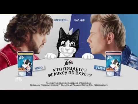 Николай Басков и Филипп Киркоров в рекламе корма «Феликс»