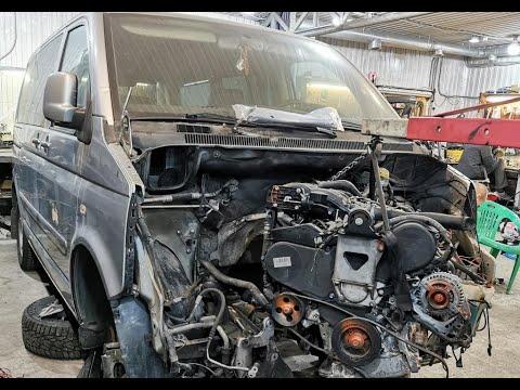 VW T5 свап V6 3литра, первые примерки #1mz #toyota