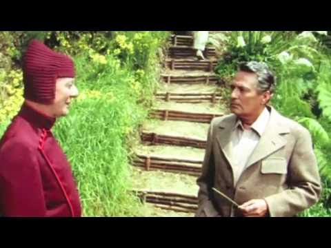 Peter Finch and John Gielgud's walk  in LOST HORIZON 1973