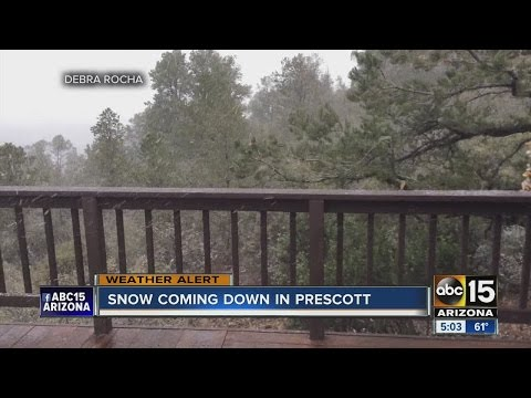 Snow comes down in northern Arizona as winter storm hits