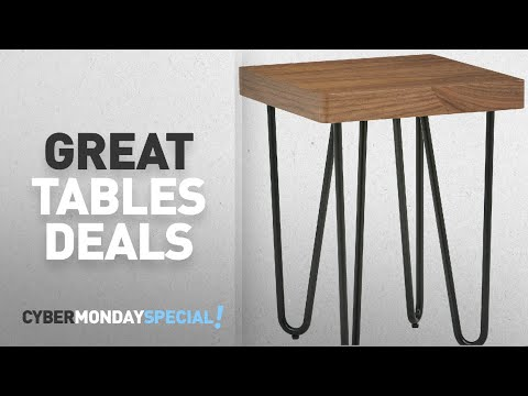 Top Cyber Monday Tables Deals: Rivet Hairpin Wood and Metal End Table, Walnut and Black