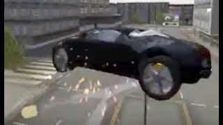 Extreme Car Driving Simulator : BUGATTI VS. LAMPS ! ninja stunts !