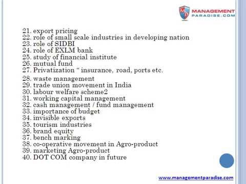 Topics on Finance Project - 100 marks