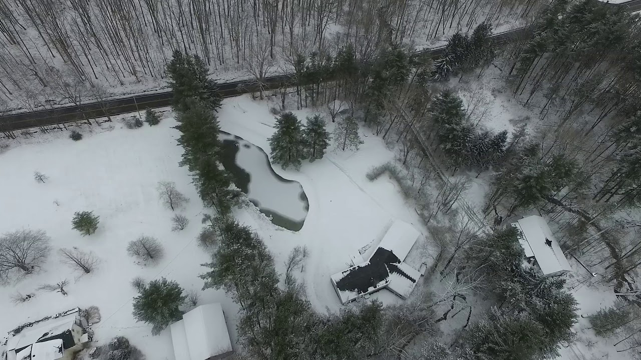 Snowy flight with the DJI phantom 3 advanced