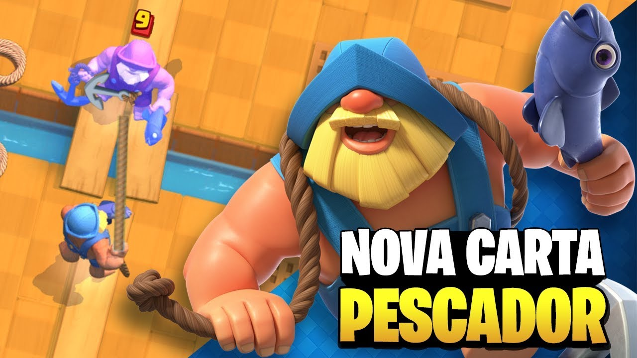 CLASH COM NERY - Usei a Nova Carta PESCADOR na Nova Arena do Clash Royale