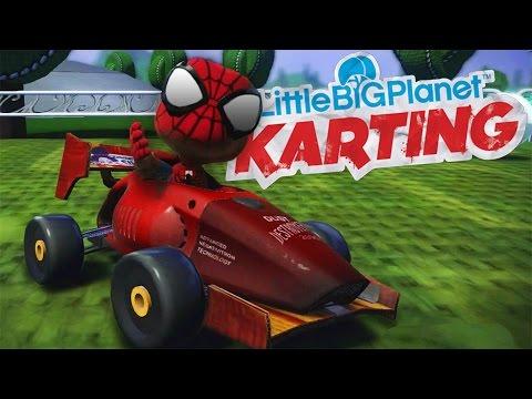 LittleBigPlanet Karting With Spiderman - Meeple City - Spider-Man Last Online Race in LBPK