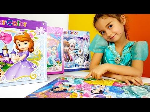 Disney prensesleri. Puzzle ve yapboz oyunları