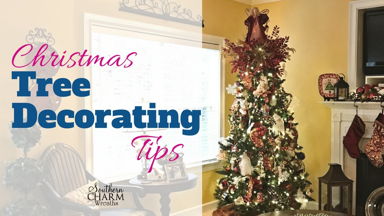 easy christmas tree decorating tips youtube